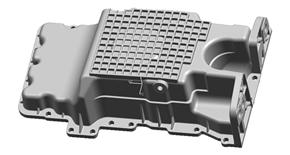 Aluminum Die casting gasket oil pan/sump oil pan